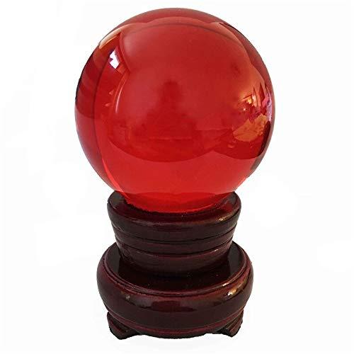 CROSYO 1 unid K9 Ball de Cristal Soporte de Cristal de Madera 80mm MIXCOLOR Decoración de Arte Crystal Prop for accesseles de decoración del hogar Fengshui (Color : Navy, tamaño : 80mm)