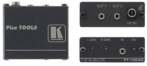 Kramer Electronics PT-102AN Nero–amplificatore audio (2.0canali, 0,01%, 85DB, RCA, 3,5mm, 0,02A)