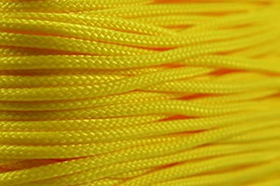 Bored Paracord 95 Cord - Yellow - Type 1 Cord - 100 Feet on Plastic Winder Brand