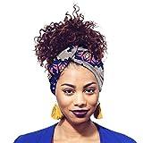 Yijinstyle Pañuelo para La Cabeza Antideslizante Hijab de Impresión Color Moderno para Mujer (Style#19, 12 * 200cm)