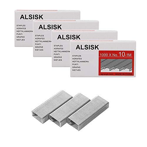 Alsisk Pack of 4000PCS No.10 Mini Staples(Smaller Than Standard Staples) .Silver