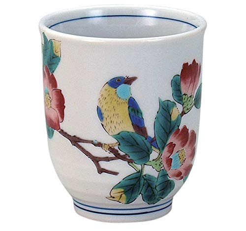 九谷焼 湯呑 椿に鳥