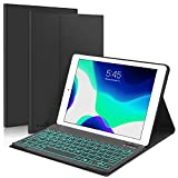 New iPad 10.2 8th 7th Generation 2019 Keyboard Case, Boriyuan 7 Colors Backlit