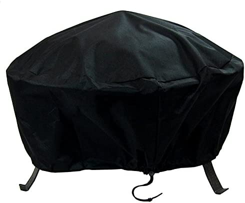 Best Sunnydaze Round Outdoor Fire Pit Cover - Waterproof and Weather Resistant Black Heavy Duty Vinyl PVC