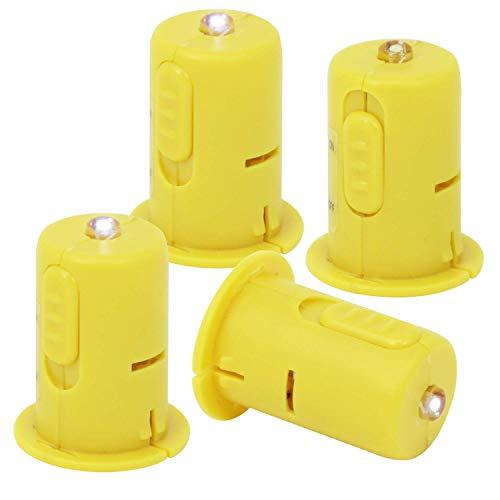 com-four® 4X LED Deko-Licht für Laternen und Teelichter - Elektrische Mini-Lampe für Lampions, Windlichter und zur Dekoration (4 Stück)