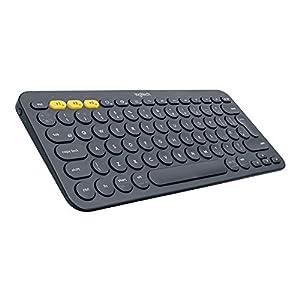 Logitech K380 Teclado Inalámbrico Multi-Dispositivos para Windows, Apple iOS, Android, Bluetooth, Diseño Compacto, PC/Mac/Portátil/Smartphone/Tablet/Apple TV, Disposición QWERTY Reino Unido, Negro