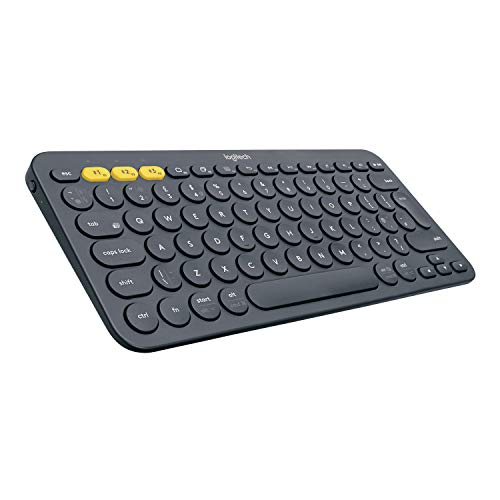 Logitech K380 Tastiera Bluetooth Multidispositivo per Windows, Apple iOS, ‎Bluetooth Wireless, Design Compatto, PC/Mac/Laptop/Smartphone/Tablet, Layout Italiano ‎QWERTY - Nero
