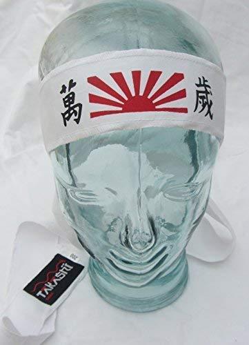 Hachimaki, Banzai Nuevo Takashi Kendo Tenugui Samurai 200cm (Hachimaki -algodón Shinobi Ninja Diadema para Hombre / Mujer / Infantil