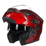 SJAPEX Unisex Abnehmbar Integralhelme, Leicht Klapphelme Harley Motorrad-Helm Full-face Helmet...