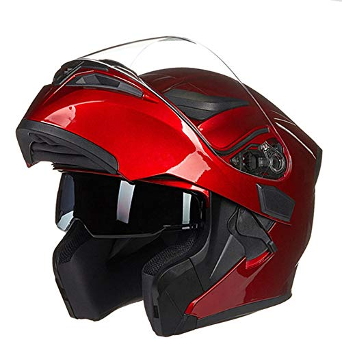 SJAPEX Unisex Abnehmbar Integralhelme, Leicht Klapphelme Harley Motorrad-Helm Full-face Helmet Jet-Helm Motocrosshelme Mofa-Helm Biker Helmet mit Doppelvisiere, ECE und DOT Zertifiziert