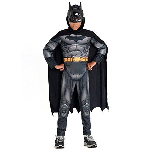 Batman Dc Premium Infantil 22887-P Sulamericana Fantasias Cinza P 3/4 Anos