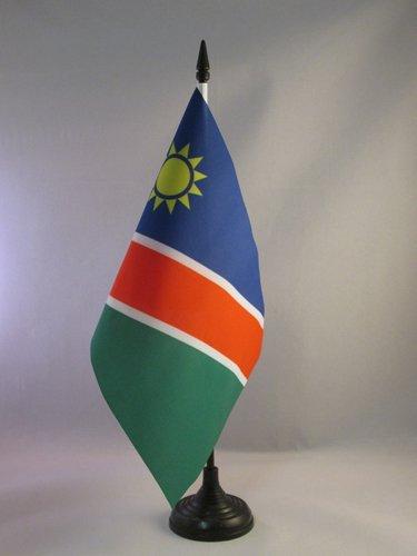 AZ FLAG TISCHFLAGGE Namibia 21x14cm - Republik Namibia TISCHFAHNE 14 x 21 cm - flaggen