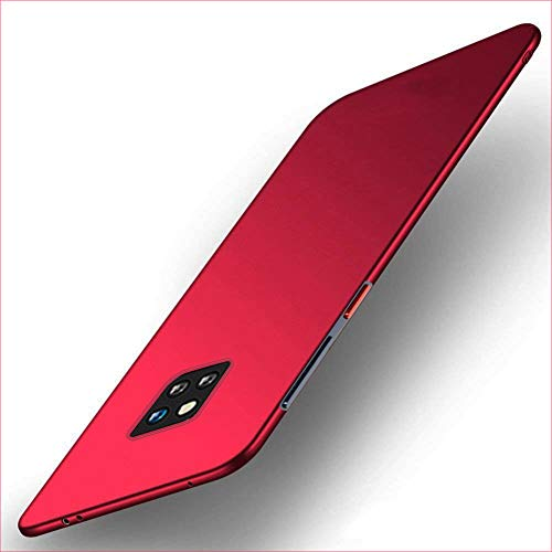 """XunEda Huawei Mate 20 PRO 6.39"""" Cover Custodia, Ultra-Sottile Antiscivolo Custodia in Plastica Rigida Protettiva Case Cover per Huawei Mate 20 PRO Smartphone(Rosso)"""
