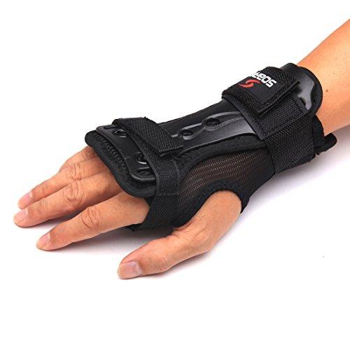 Andux Ski Handschuhe Verlängerte Handgelenk Palmen Schutz Rollerskaten Hartschale Handschuhe verstellbar Skateboard Handschuhe Unterstützung hxhw-01 MEHRWEG