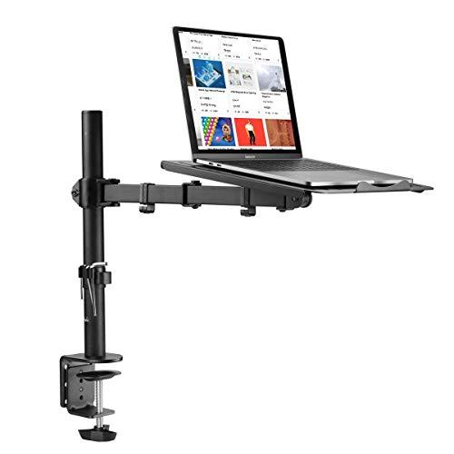"""Suptek Monitor Arm mit Laptop Halterung Volleinstellbar für 13""""-27"""" Bildschirme Volleinstellbar MD6421TP004"""