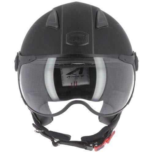 Astone Helmets - Casque jet KSR 2 graphic - Casque de moto léger - Casque de moto compact - Casque de scooter -matt black gunmetal