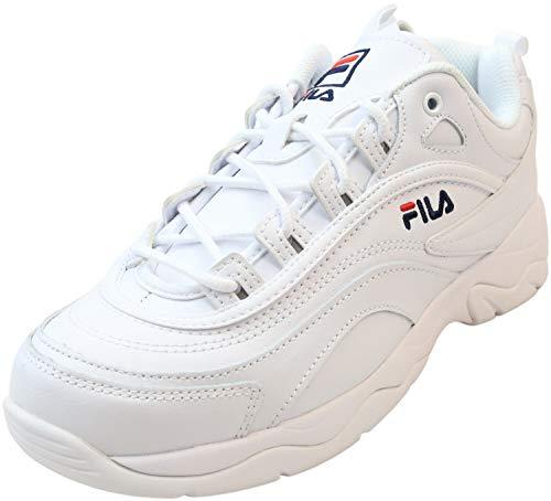 Fila womens Fila Disarray Women's Sneaker, White/Navy/Red, 7.5 US