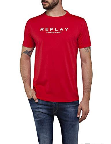 Replay Herren M3006 .000.2660 T-Shirt, Rot (Poppy Red 555), (Herstellergröße: XX-Large)