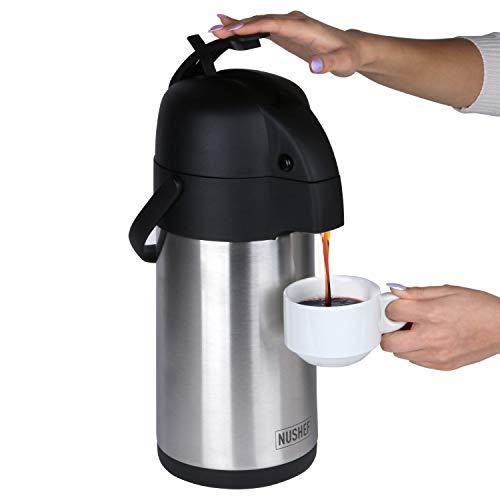 Airpot Coffee Dispenser with Pump 3L (102oz)...
