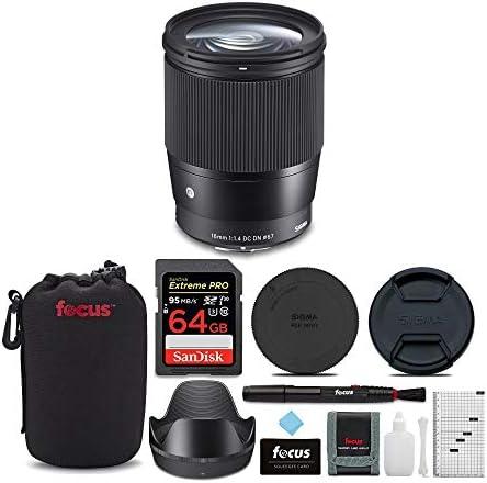 Sigma 16 Mm F 1 4 Dc Dn Modernes Objektiv Für Sony Mit Kamera