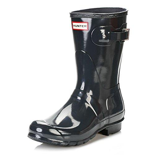 HUNTER Damen Low Wellington Boots Gummistiefel, Grau (Grey/DSL), 40/41 EU