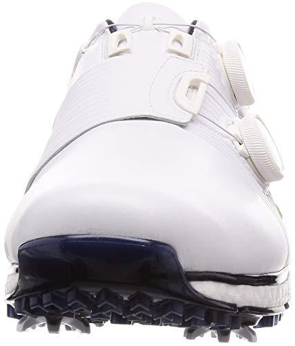 ADIDAS TOUR360 XT Boa, Zapatillas de Golf Hombre, Blanco (Blanco/Lima/Azul Navy F35403), 40 2/3 EU