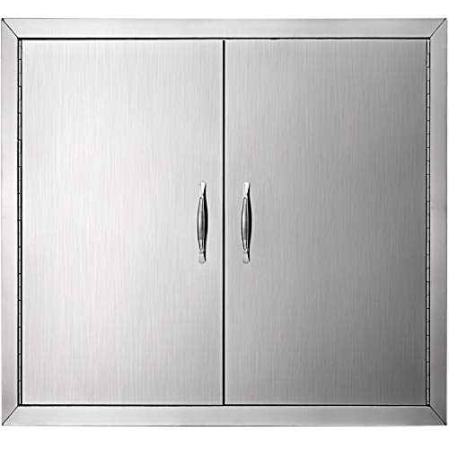 Mophorn BBQ Access Door Cutout 31 Width x 24 Height Inches BBQ Island Door Brushed Stainless Steel Perfect for Outdoor Kitchen or BBQ Island