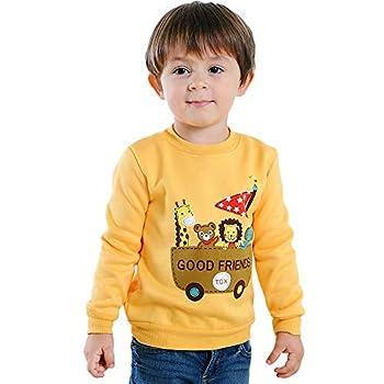 iOPQO Kid s Pullover Tops Winter Newborn Infant Baby Boys Girls Prints Long Sleeve Sweater Pink