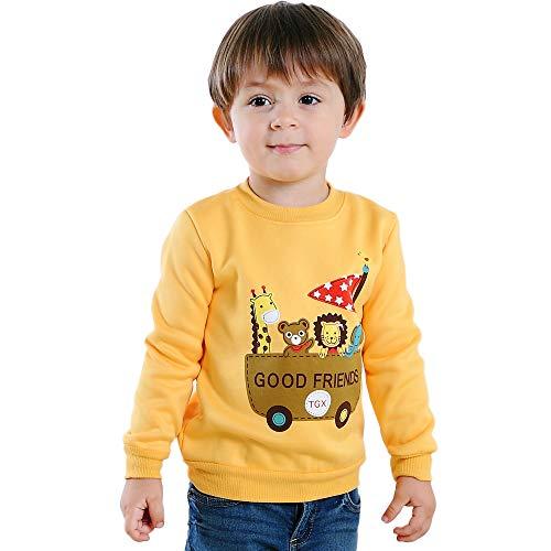 iOPQO Kid's Pullover Tops, Winter Newborn Infant Baby Boys Girls Prints Long Sleeve Sweater Pink