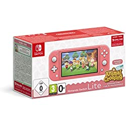 Nintendo Switch Lite Corallo + Animal Crossing New Horizons + NSO 3 mesi