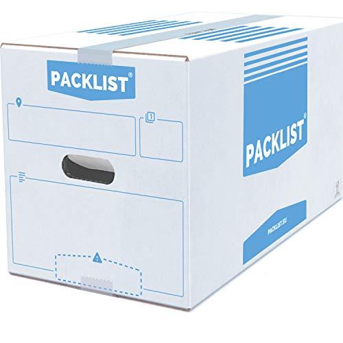 PACKLIST 10 Cajas Cartón Mudanza Personalizables + APP Inventario y PDF -...