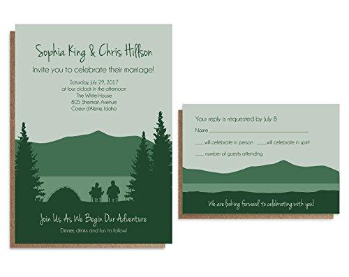 Camping Wedding Invitation Sets