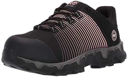 Timberland PRO Women's Powertrain Sport Alloy Toe SD+ Industrial Boot, Black, Rose Gold, 9