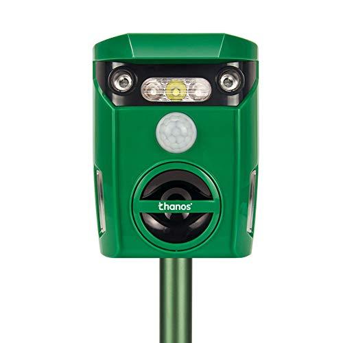 Thanos Solar Power Dog Repeller Ultrasonic Animal Repellent LED Flashing