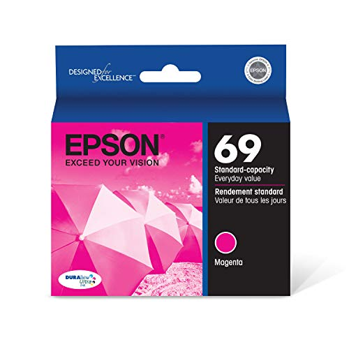 EPSON T069 DURABrite Ultra Ink Standard Capacity Magenta Cartridge (T069320-S) for select Epson Stylus and WorkForce Printers