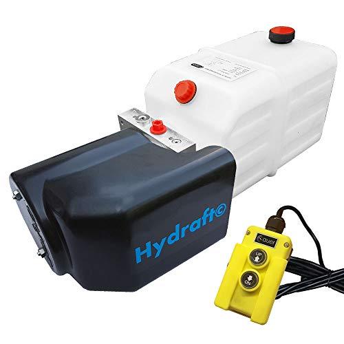 Hydraulikaggregat Hydraft, Hydraulikpumpe 12 V 180 bar 2000 Watt mit 7 Liter Tank