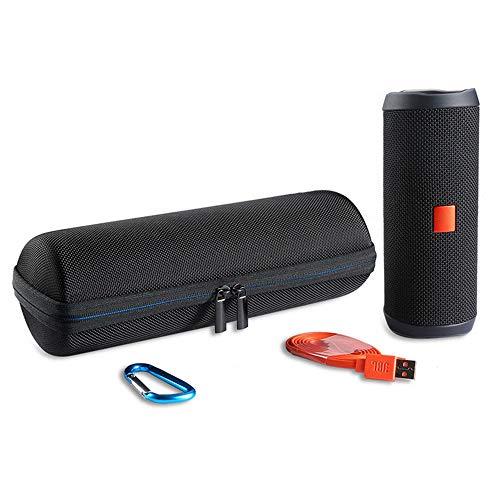 LuckyNV Hard Eva Carrying Travel Case für JBL Flip 3 4 wasserdichte tragbare Bluetooth-Lautsprechertasche. Passend für USB-Kabel und Zubehör (1)