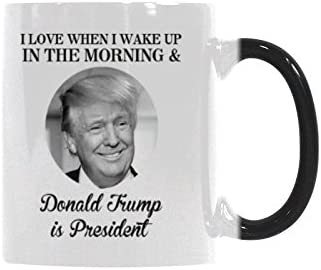 WECE I Love When I Wake Up In The Morning and Donald Trump is President Coffee Mug Funny Quote product image