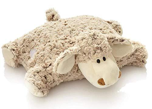 Unbekannt Plüsch Schaf Kissen / Kuschelkissen / Schmusekissen / Stofftier / Kuscheltier / Plüschtier / 35 x 40 cm / braun / Natur / kuschelweich / Lamm / für Babys und für Kinder