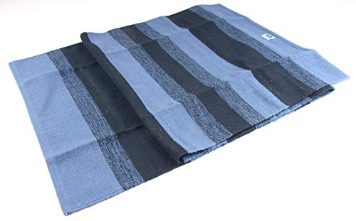 Berk YO-14-BL meditatieaccessoires, yogamat van katoen, blauw