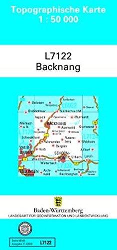 L7122 Backnang: Zivilmilitärische Ausgabe TK50 (Topographische Karte 1:50 000 (TK50))