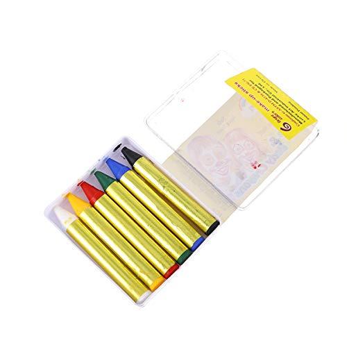 EXCEART 6 Lápices de Colores para Pintar La Lápices de Colores No Tóxicos 6 Lápices de Colores para Maquillaje de Fiesta de Halloween