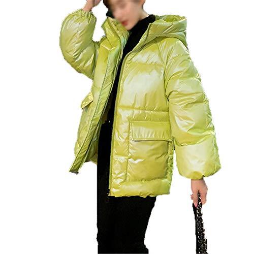 Chenlao7gou621 Abrigo De PlumóN Abrigo De AlgodóN Mujer Corto Estilo Coreano Chaqueta Acolchada Suelta Abrigo De Invierno Abrigo De Invierno