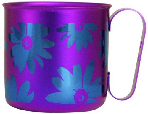 ホリエ チタンデザインマグカップ 花&葉 フラワー(パープル) TMA-206D