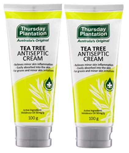 Thursday Plantation Tea Tree Antiseptic Cream, Antibacterial Skin Treatment, 3.5 Ounces - 2 pk