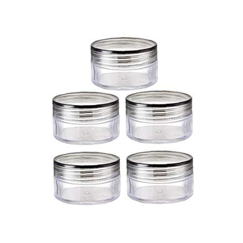 10pcs Pot De Crème Claire Jars En Plastique Avec Couvercles Cosmétiques Jars Conteneurs Pour La Crème Lotion De Stockage