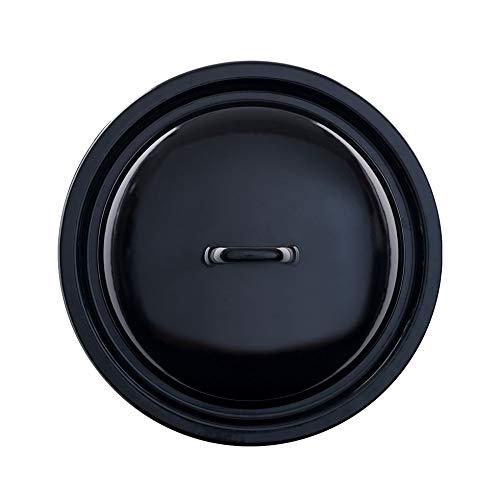 Riess 0262-022 Deckel für Schnitzelpfanne 34, CLASSIC - SCHWARZEMAILLE, Durchmesser 34 cm, Höhe 6,5 cm, Emaille, schwarz