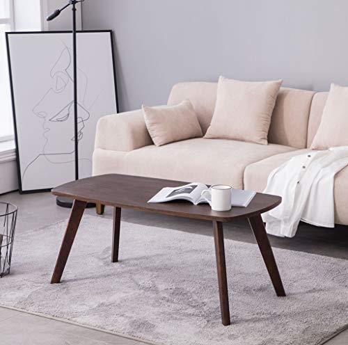 Rechteckiger Klapptisch aus Holz, Couchtisch, modern, schlicht, Massivholz, Sofa, Beistelltisch, Teetisch, Beistelltisch...