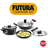 Hawkins Futura Hard Anodised Induction Compatible Set, 3-Pieces