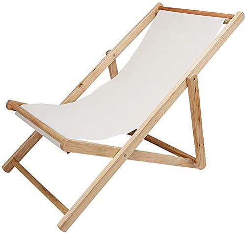 Muzidp - Sedia da salotto da balcone, in legno massello, multifunzione, pieghevole, facile da trasportare per la casa, il soggiorno, il pranzo e il pisolino (colore: A)